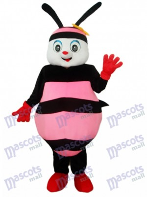 Black & Pink Bee Mascot Adult Costume Insect