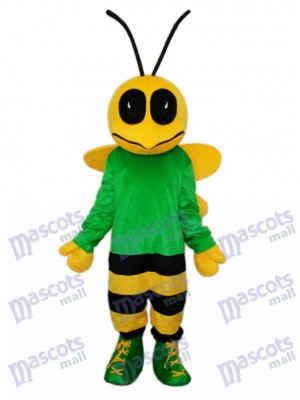 Green Bee Mascot Adult Costume Insect