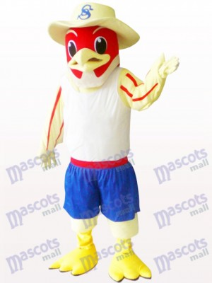 Red Bird Animal Adult Mascot Costume