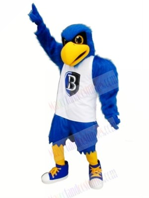 Blue Eagle with White Vest Mascot Costumes Animal