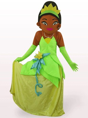 Deep Brown Princess Cartoon Mascot Costume