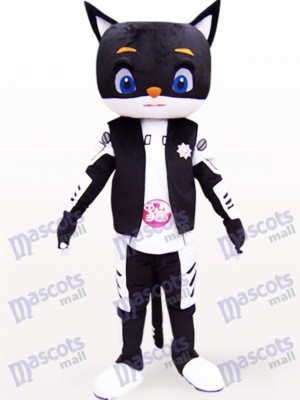 Sir Black Cat Animal Adult Mascot Costume