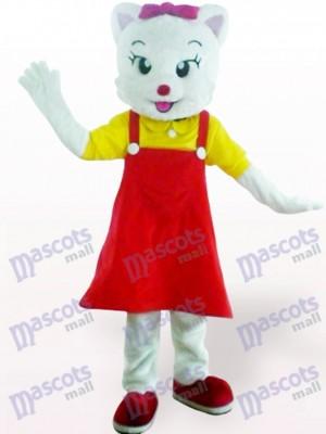 Red Female Cat Animal Adult Mascot Costume