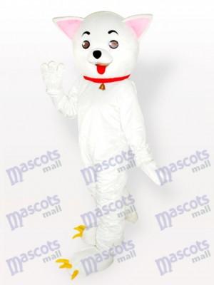 Pink Ears Kitty Cat White Adult Mascot Costume