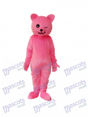 Pink Cat Mascot Adult Costume Animal
