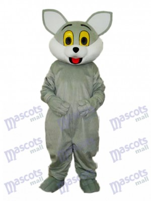 Grey Cat Mascot Adult Costume Animal