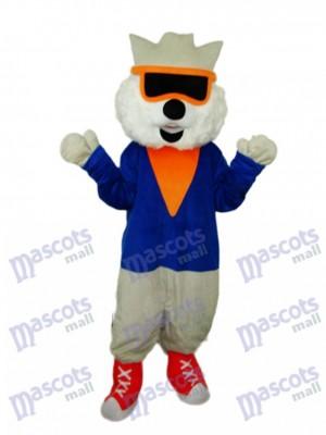 Cat Wear Glasses Mascot Adult Costume Animal