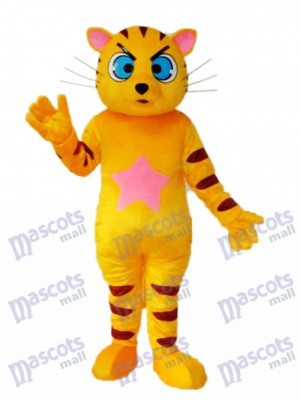 Yellow Cat Mascot Adult Costume Animal