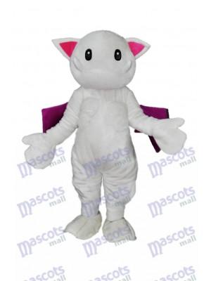 Scary Teeth White Monster Cat Mascot Costume Animal