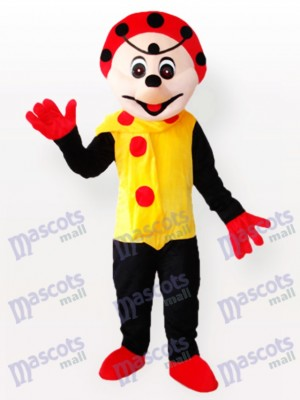 Spotty Clown in Yellow Dress Mascot Costume