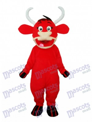 Little Red Cow Mascot Adult Costume Animal