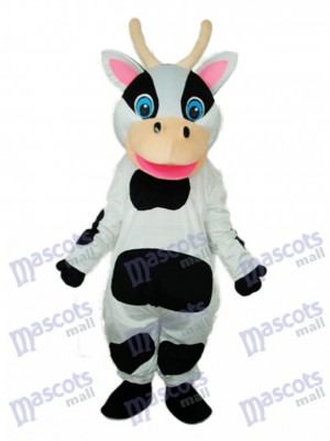 Black Dot Cow Mascot Adult Costume Animal