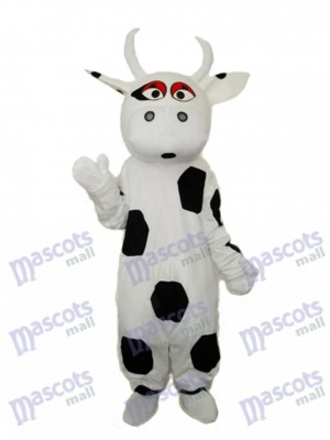 Big Black Dot Cow Mascot Adult Costume Animal