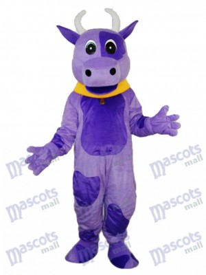 Purple Cow Mascot Adult Costume Animal