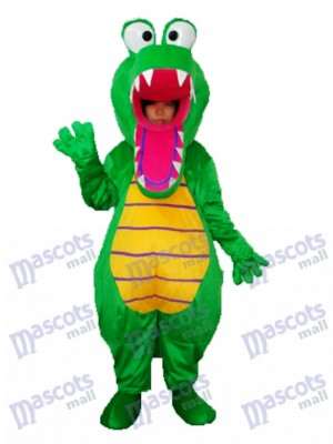 Open Mouth Crocodile Mascot Adult Costume Animal