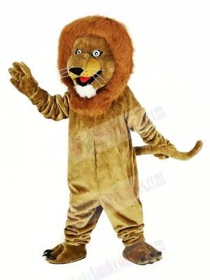 Brown Smiling Lion Mascot Costume Animal