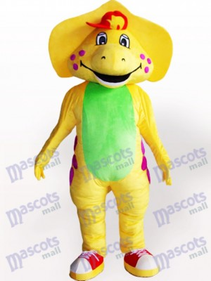 Yellow Dinosaur Adult Mascot Costume