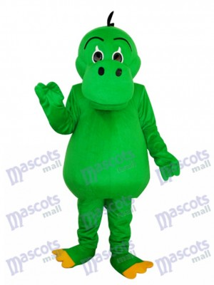 Round Mouth Green Dinosaur Mascot Adult Costume Animal