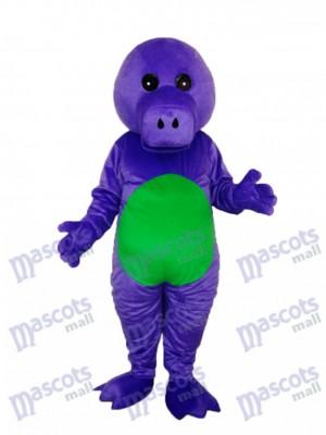 Purple Dinosaur Mascot Adult Costume Animal