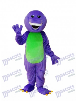 Purple Barney Dinosaur Mascot Adult Costume Animal