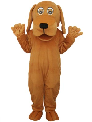 Brown Dog With Big Mouth Animal Adult Mascot Costume