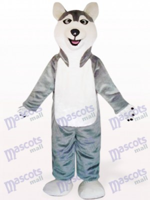 Gray Sled Wolf Dog Animal Mascot Costume