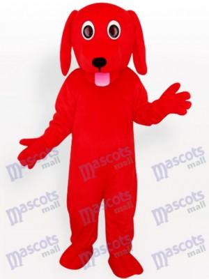 Red Dog Animal Adult Mascot Costume