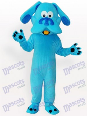 Blue Dog Animal Adult Mascot Funny Costume