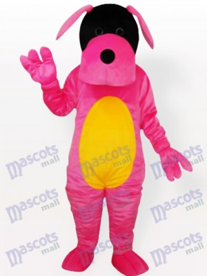 Pink Dog Adult Mascot Costume