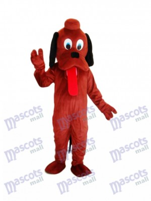 Brown Pluto Dog Mascot Adult Costume Animal