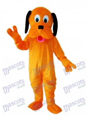 Orange Dog Mascot Adult Costume Animal