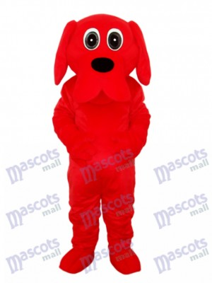 Black Nose Rooney Red Dog Mascot Adult Costume Animal