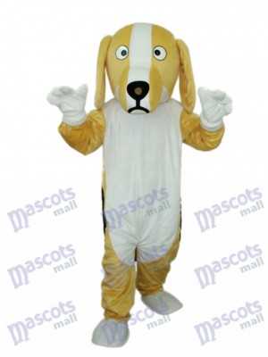Khaki and White Dog Mascot Adult Costume Animal