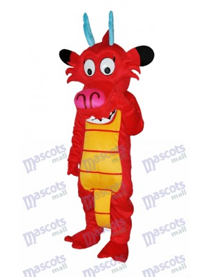 Dragon Mushu Dinosaur Mascot Costume Animal