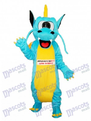 Serrated Teeth Dragon Mascot Adult Costume Animal