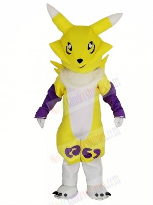 Yellow Digimon Frontier Digital Monster Mascot Costume Cartoon