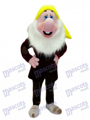 Sneezy Ahchoo Dwarf Mascot Costume Cartoon Anime