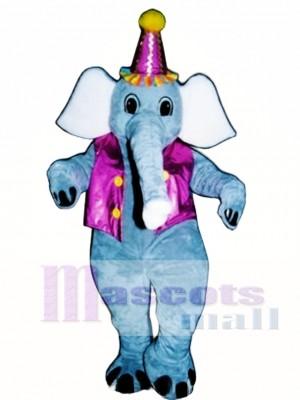 Elliot Elephant with Vest & Hat Mascot Costume Animal