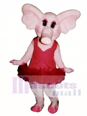 Elphie Elephant with Tu Tu Mascot Costume Animal