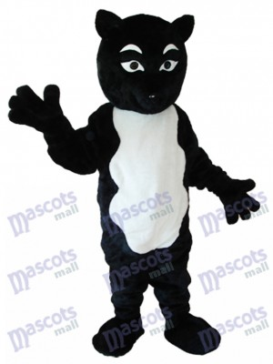 Black and White Fox Mascot Adult Costume Animal