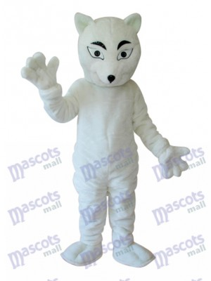 White Fox Mascot Adult Costume Animal