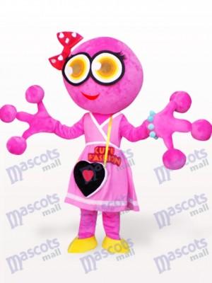 Pink Big Head Frog Adult Mascot Costume