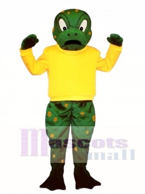 Tough Toad with Shirt Mascot Costume Animal