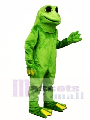 Yellow Toed Frog Mascot Costume Animal