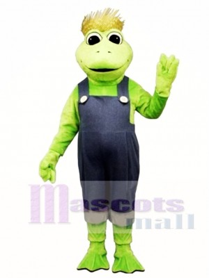 Frog Legs with Hat & Overalls Mascot Costume Animal