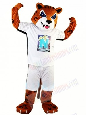 High School Energetic Tiger Mascot Costume