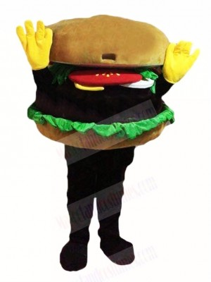 Hands Up Hamburger Mascot Costume