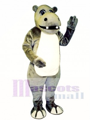 Cute Hyrum Hippo Mascot Costume Animal