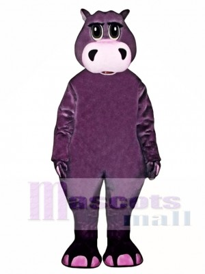 Cute Henry Hippo Mascot Costume Animal