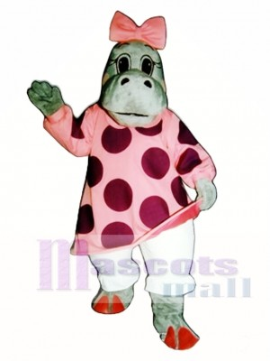 Hilary Hippo Mascot Costume